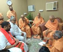 Bhaiyaji Joshi, HP Swami, other dignitaries visit BAPS Sarangpur, Morari Bapu, Advani, Shah to attend funeral today