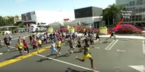 Usain Bolt raced James Corden, 30 random people and Owen Wilson in the 100m