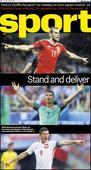 Saturday cover: Gareth Bale, Cristiano Ronaldo and Robet Lewandowski must stand and deliver