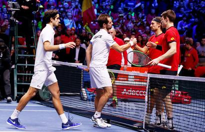 Davis Cup final: France win doubles, take 2-1 lead vs Belgium
