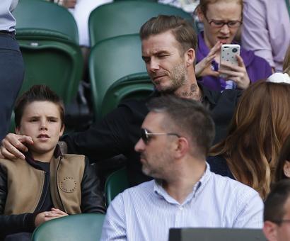 PHOTOS: Beckham, Bradley Cooper on Wimbledon's celebrity court