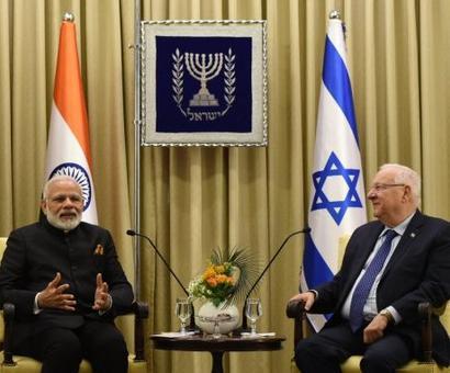 Israeli prez calls Modi, 'Greatest democratic leader'