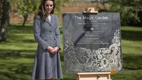 Dragons and moats as Britain's Kate opens magical palace garden