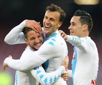 Serie A: Mertens nets four as Napoli leapfrog AC Milan; Palermo stage dramatic comeback