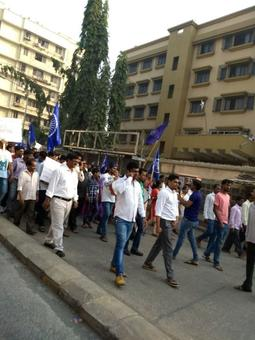 Protest marches in many parts of Mumbai, Maharashtra