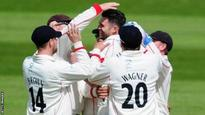 Somerset follow on after Anderson burst