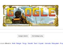 Google doodle on homepage marks 160th anniversary of Indian railway