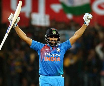 PHOTOS: Rohit equals record for fastest T20 century as India crush SL