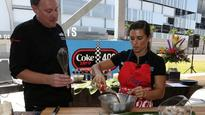 Danica Patrick shows off cooking skills at Daytona media day