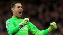 West Ham goalkeeper Adrian scored in Mark Noble's testimonial after running the length of the pitch