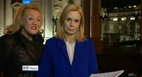 The Nine O'Clock News was interrupted (again) by a woman with a message for politicians