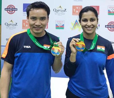 Shooting WC: Jitu Rai, Heena Sidhu bag gold in mixed team event