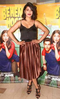 PIX: Shruti Haasan, Gulshan Grover watch film