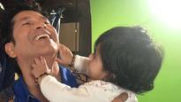 See pics: Sachin Tendulkar shares an adorable moment with Harbhajan Singh's daughter