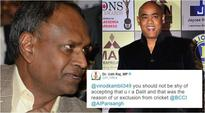 BJP MP Udit Raj gets flak on Twitter after his casteist remark on Vinod Kambli