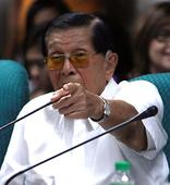 Enrile to Duterte: Sharing the same bed with communists has security implications