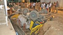 Two die as lorry topples into construction site pit in Coimbatore