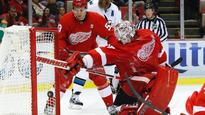 Howard, Nyquist lead Red Wings over Sharks 3-0