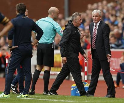 Stoke manager Hughes fined by FA for misconduct