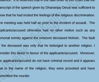 Bombay HC grants bail to 3 Hindu men who allegedly killed Muslim, because 'innocent victim's' religion 'provoked' them