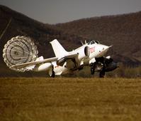 Q-5 ground attack aircraft in flight training