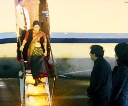 Swaraj arrives in China for talks with Wang, SCO meet