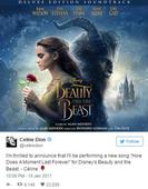 Celine Dion will record a brand new song for Disney's Beauty and the Beast remake