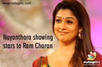 Nayanthara showing stars to Ram Charan