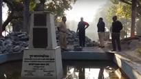 Pune: Sambhaji Brigade vandalises bust of Ram Ganesh Gadkari
