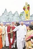 MP's Thiruvalluvar Ganga Payanam reaches Chennai