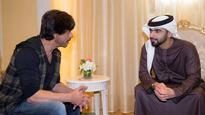 Watch: Shah Rukh Khan meets Shaikh Mansoor bin Mohammed at Bollywood Parks Dubai