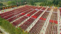 30,000 students in International Shaolin Wushu Festival rehearsal