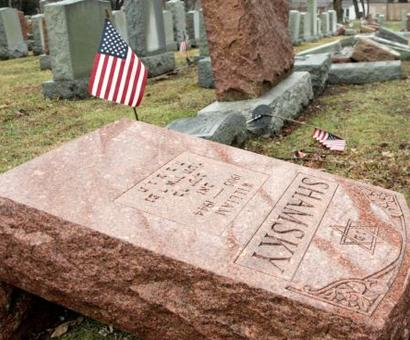 Hundreds of US Jewish graves attacked in Philadelphia