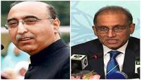 Abdul Basit points at 'Pakistan's worst diplomat ever' Aizaz Ahmad Chaudhry
