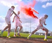 Watch: Arsenal get colourful off the field, wish Indian fans a happy Holi