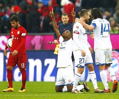Bundesliga: Bayern suffer shock loss at home to Mainz
