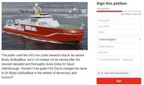 Boaty McBoatface Petition Calls On Sir David Attenborough To Stand Up For Democracy