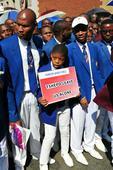 Congregants march against Modise