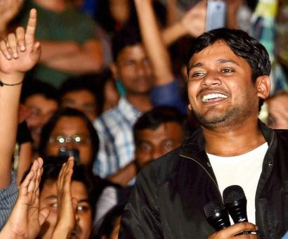 Kanhaiya's fiery comeback speech is a massive hit