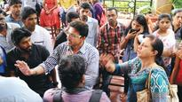 Students and parents protest at MCC over seats; faculty member assaulted