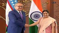 Uzbekistan's Foreign Minister Kamilov meets Sushma Swaraj
