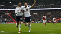 Premier League: Prolific Harry Kane heads Tottenham Hotspur to derby victory over Arsenal