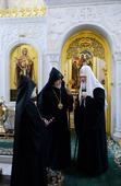 Catholicos of All Armenians attends concert honoring Russian Orthodox Patriarch