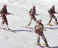 ITBP braves snow for ski training