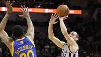 Ginobili's shot downs Warriors in double OT