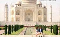 William and Kate tour the Taj Mahal