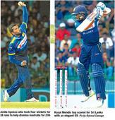 Lanka overcome Faulkner  hat-trick to level series