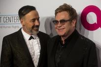 Elton John takes a break from touring to spend time with family
