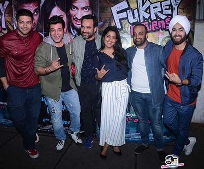 Fukrey Returns` team had a party to celebrate their success!