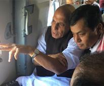 Assam floods: Rajnath Singh conducts aerial survey